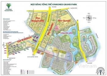 Bán shophouse chân đế S5 - 02 Dt: 56.9m2 + 46.7m2 Vinhomes Grand Park