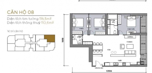 Bán căn hộ view sông 3 Phòng Ngủ, toà Aqua 2, Vinhomes Golden River hinh2
